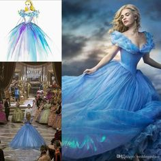 Hot Sale 2015 Newest Deluxe Customized Princess Cap Sleeve Tulle Beaded Cinderella Dress Movie Cosplay Party Evening Cinderella Prom Dresses Online with $129.06/Piece on Weddingpalace's Store | DHgate.com