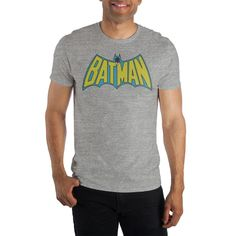 BATMAN Bat Man Men/'s Tee T-Shirt DRIPING LOGO Man Cave Fathers Day Birthday Gift