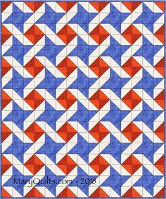 Quilt designs – Making Scrap Quilts from Stash Flag Quilt, Pinwheel Quilt, Patriotic Quilts, Star Quilt Blocks, Star Quilt Patterns, Star Quilts, Quilting Templates, Quilting Designs, Quilt Design