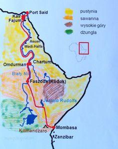 Port Said, Mombasa, Homeschool, Africa, Map, Education, Sayings, Learning, Montessori