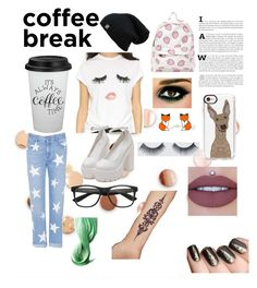 """""""coffe break"""" by majastina2004 ❤ liked on Polyvore featuring Umbra, Sincerely, Jules, STELLA McCARTNEY, Lime Crime, Casetify, Hug a Porcupine and Inglot"""