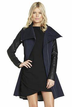 Wide-Collar Full-Skirt Trench   BCBGeneration