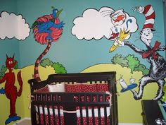Creatively Quirky At Home: Dr Seuss Nursery Mural Part 78