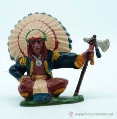 Jefe indio sentado Reamsa goma años 50 / Juguetes antiguos en todocoleccion