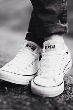 Converse and jeans close up