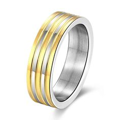 Lose Money Promotions silver plated engagement ring Gold Stripes aneis summer jewelry SMTR099