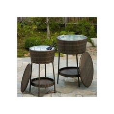 Cooler Outdoor Chest Patio BBQ Party Picnic Furniture Beverage Ice Bar  Backyard