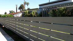Horizontal Modern Fence