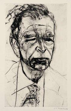 Ernst Hassebrauk (German, 1905- 1974) Otto Dix, 1950 Drypoint etching, 37,4 x 22,7 cm