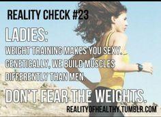 girls lift weights too