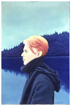 'David Bowie - The Man Who Fell To Earth' oils on canvas painted by George Underwood