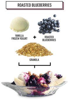 Roasted Blueberries: 5 Amazing Breakfast Banana Splits