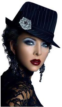 portrait de femme à chapeau noir - chantalou1607eden.eklablog.com