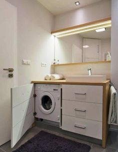winsome Bathroom with washing machine with white ceiling plus lighting ceiling then white wall wallpaper decor idea