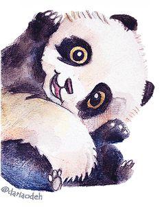 Panda illustration Panda Illustration, Panda Drawing