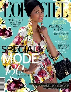 Model Chanel Iman wore Dolce & Gabbana's spring '12 line on the February '12 cover of L'Officiel Paris.