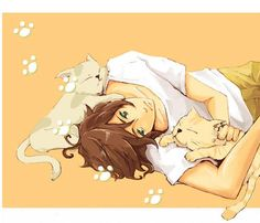 Anime boy.......kitty boy