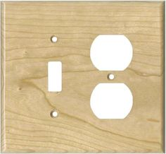 Cherry Unfinished Light Switch Plates, Outlet Covers, Wallplates