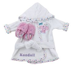 Personalized Baby Bath Robe Baby Gift Idea