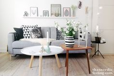 I cannot get over this gorgeous living room setup from that nordic feeling. I've ID-ed the sofa-transforming legs as coming from prettypegs and the white table is the Tablo Table from Normann Copenhagen. Love!