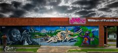 New Orleans And Louis Armstrong Tribute Graffiti Mural Odeith Baton Rouge Louisiana Usa