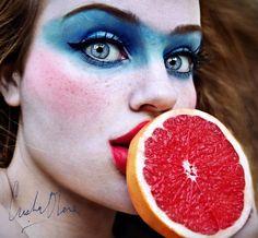 Tutti Frutti - 15 Fruity Self Portrait Photography examples by Old Cristina Otero  . Follow us www.pinterest.com/webneel