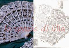 l'espace lilas: Une demande polie ... Les fans crochet, charts / fans de crochet Graphiques gratuits