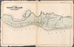 1880 Bromley map of Coney Island -  Bounded by Gravesend Bay, Sheepshead Bay, Manhattan Beach and Atlantic Ocean.]