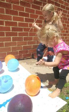Balloon POP painting plus 4 other SUPER FUN and creative ways for kids to create art with balloons