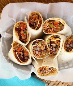 Red Bean & Rice Burritos - Scarletta Bakes