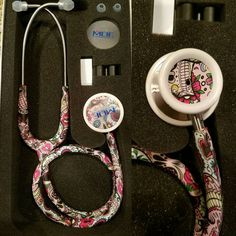 Check out this item in my Etsy shop https://www.etsy.com/listing/498075721/sugar-skull-mdf-md-one-stethoscope