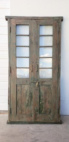 Pair Of 5 Pane French Doors Glass French Doors French Doors Wooden French Doors
