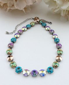Swarovski 12mm Crystal Necklace   Designer by CathieNilsonDesigns, $85.00