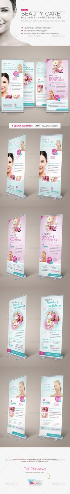 Beauty Care Roll-up Banners are design templates created for sale on Graphic River. More info of the templates and how to get the sourcefiles can be found on this page: http://graphicriver.net/item/beauty-care-rollup-banners/6301344?r=kinzi21