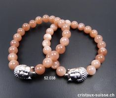 Bracelet Pierre de Lune orange AA 8 mm et BOUDDHA en argent 925. 17,5 cm. Taille SM Lune Orange, Beaded Bracelets, Jewelry, Stone Bracelet, Buddha, Crystals, Human Height, Pituitary Gland, Jewellery Making