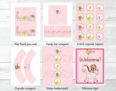 Safari Girl Jungle Animal Baby Shower Party por LittlePrintsParties