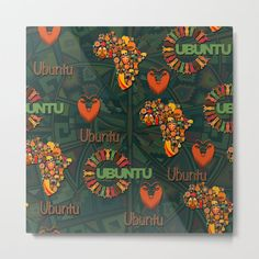 Ubuntu - I am because we are Metal Print by justkidding #MetalPrint #graphicdesign #texture #africaprofiles #womanfaces #repeatpatterns African Theme, Leather Art, Wood Wall Art, Metal Art, Vibrant Colors, Arts And Crafts, Graphic Design, Texture, Illustration