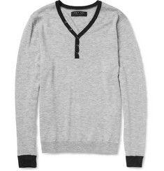 Rag & boneCalverton Merino Wool Henley Sweater