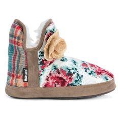Women's Muk Luks Pennley Floral Print Bootie Slippers - Primrose XL(11-12), Size: XL (11-12), Pink