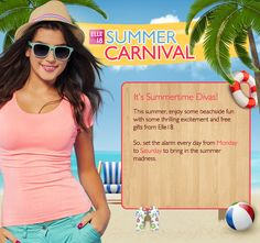 Participated in the #Elle18SummerCarnival contest and win prizes  http://gettopdeals.blogspot.in/2014/05/participated-in-elle18summercarnival.html