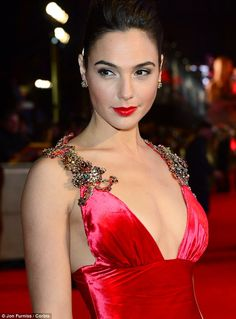 A knockout: Gal at the London premiere of Batman v Superman: Dawn of Justice at Odeon Leic...