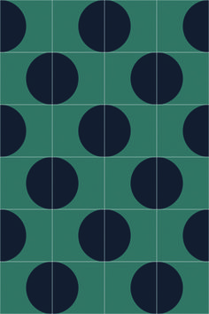 India Mahdavi for Bisazza / Dot cement tiles / London Design Journal