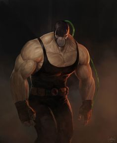 Bane by Marcus Reyno on ArtStation Gotham Villains, Comic Villains, Superhero Villains, Comic Book Characters, Comic Character, Comic Books Art, Comic Art, Dc Comics Art, Marvel Dc Comics