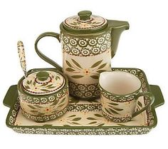 Temp-tations Old World 4-Piece Tea Set  I wish I could get this
