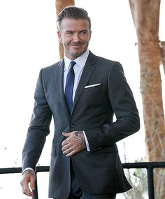 David Beckham wears his suit well at a Miami press conference on Feb. 5 #studioSuits #customsuits