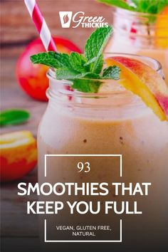 These smoothies will replace a meal and keep you full until your next meal. They are based on easy to find, healthy ingredients and will help you lose weight. Protein Fruit Smoothie, Raw Vegan Smoothie, Smoothie Prep, Fruit Smoothie Recipes, Make Ahead Smoothies, Yummy Smoothies, Healthy Breakfast Options, Healthy Breakfast Smoothies, Healthy Blender Recipes