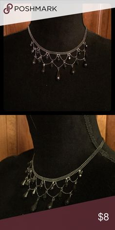 Black and Silver Necklace Good condition. Jewelry Necklaces