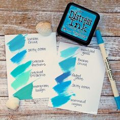 Tim Holtz Distress Ink Color Pop: Mermaid Lagoon!
