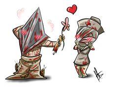 Pyramid Head x Bubblehead Nurse