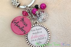 PERSONALIZED TEACHER Key Chain, Necklace, Bookmark, Teacher Gift, School, Supply, Educational Assistant, You Have Made a Difference Pendant